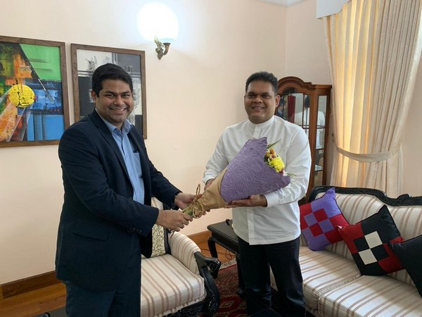 Indian Acting High Commissioner Vinod K Jacob on Wednesday met Sri Lankan state minister Shehan Semasinghe