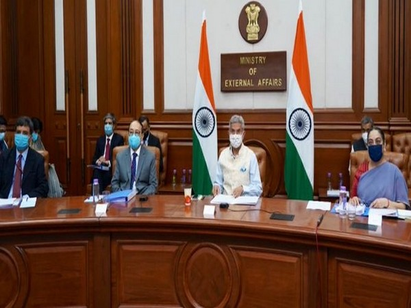External Affairs Minister S Jaishankar speaking at the SAARC meeting on Thursday (Photo/Twitter: S Jaishankar)