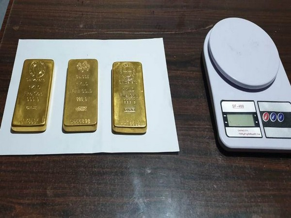 Seized gold bars by Assam Rifles