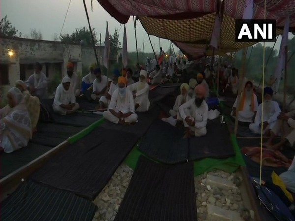 Visuals from the protest site. (Photo/ANI)
