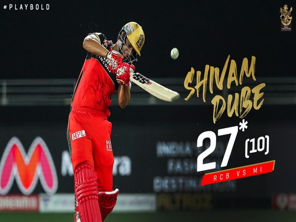 RCB's Shivam Dube (Photo/ RCB Twitter)