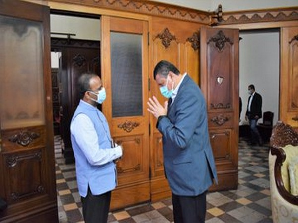Guatemala Vice President Guillermo Castillo Reyes along with Indian Ambassador BS Mubarak on Gandhi Jayanti. (Photo credit: India in Guatemala)