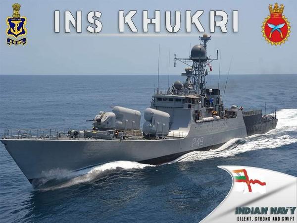 INS Khukri (Photo credit: A. Bharat Bhushan Babu, Ministry of Defence Principal Spokesperson, Twitter)