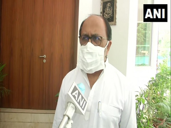 Uttar Pradesh Minister Siddharth Nath Singh speaking to ANI in Lucknow on Friday. [Photo/ANI]