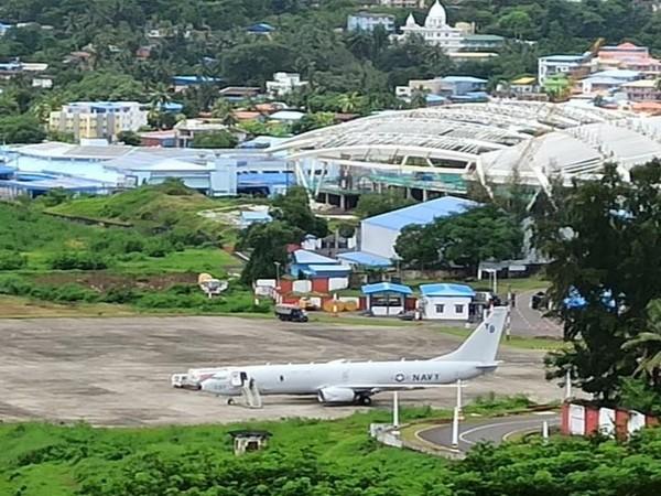 American Navy P-8 anti-submarine warfare aircraft at the Andaman and Nicobar Islands.