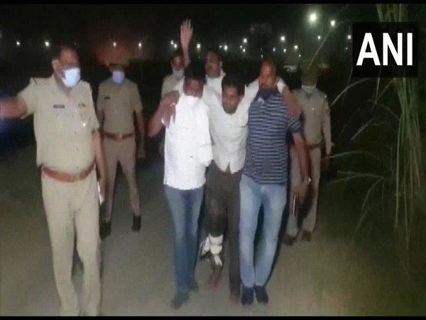 One of the accused, Pawan, was injured in the cross-fire. (Photo/ANI)