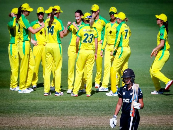 Australian women's cricket team in action against New Zealand (Photo/ ICC Twitter)
