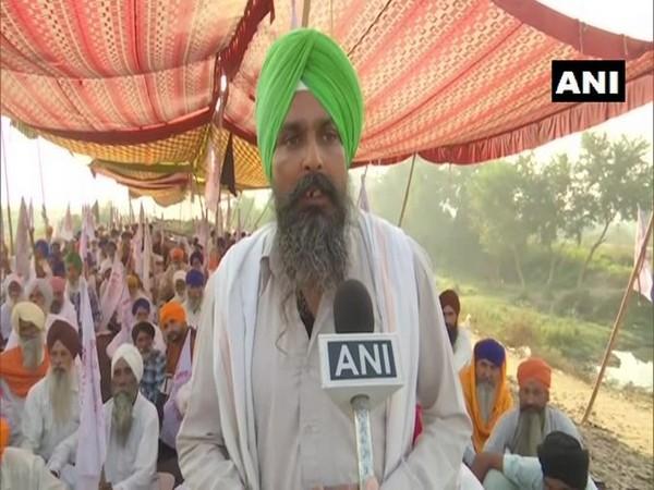 Sarvan Singh Pandher, State Secy of Kisan Mazdoor Sangharsh Committee speaking to ANI on Wednesday. Photo/ANI