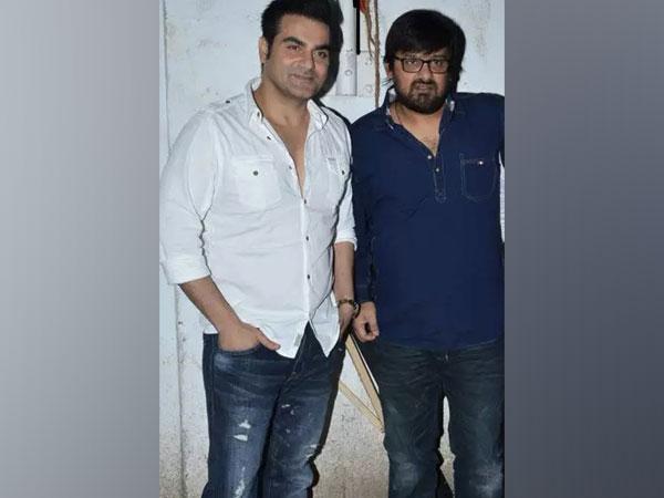 Actor-filmmaker Arbaaz Khan with late musician Wajid Khan (Image Source: Twitter)