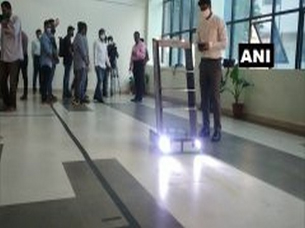 Automatic guided vehicle (AGV) developed by team of engineering students of Hubli's KLE Technological University (Photo/ANI)