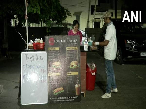 Ravi's food stall in Noida Sector 19. (Photo/ANI)
