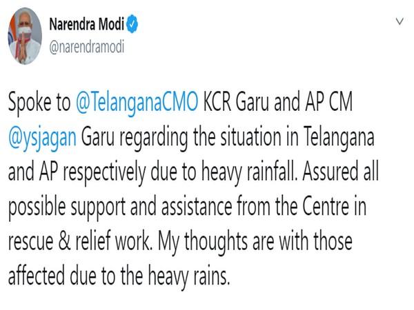 Prime Minister Narendra Modi's tweet.