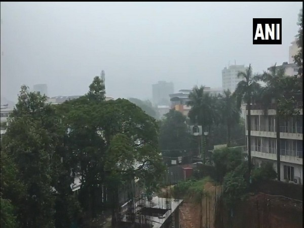 Heavy rainfall in Kadri area in Mangaluru, Karnataka. (Photo Credits: ANI Twitter)