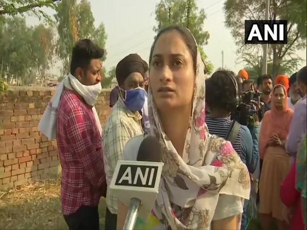 Pranpreet Kaur, daughter of Balwinder Singh (Photo/ANI)