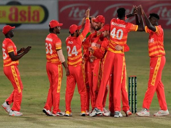 Zimbabwe cricket team in action  (Photo/ ICC Twitter)