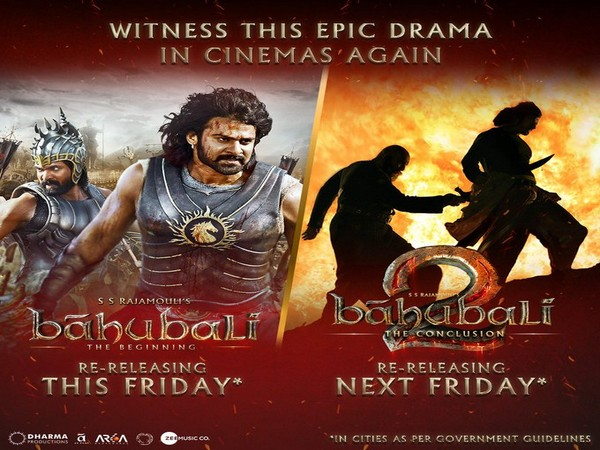 Posters of 'Baahubali : The Beginning,' and 'Baahubali: The Conclusion.' (Image Source: Twitter)