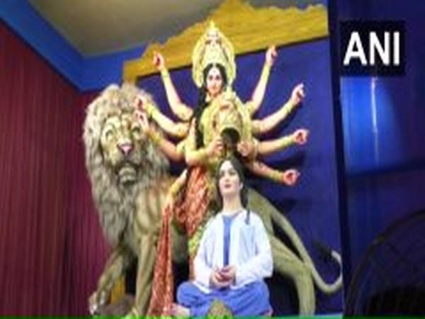 A Durga Puja pandal in West Bengal's Murshidabad (Photo/ANI)