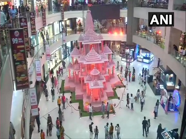 The replica of the Ram Mandir in Pacific Mall, Delhi. (Photo/ANI)