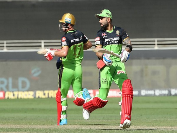 Virat Kohli and AB de Villiers in action against CSK (Photo/ IPL Twitter)