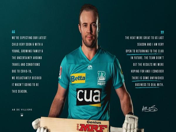 AB de Villiers (Photo/ Brisbane Heat Twitter)