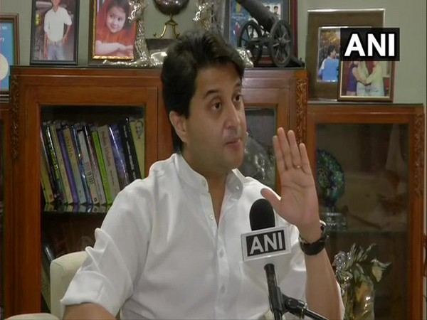 Bharatiya Janata Party (BJP) leader Jyotiraditya Scindia. (Photo/ANI)