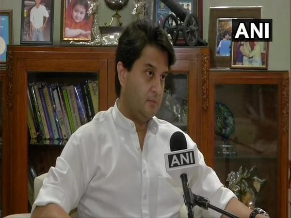 Bharatiya Janata Party (BJP) leader Jyotiraditya Scindia speaking to ANI. (Photo/ANI)