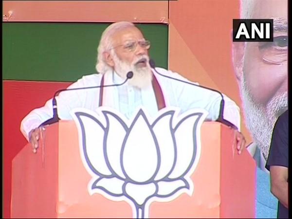 Prime Minister Narendra Modi addressing a rally in Bihar's Muzaffarpur (Photo/ANI)