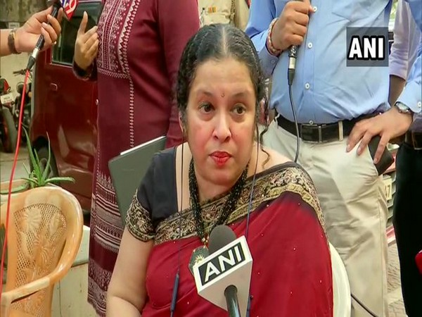 Akshita Naik, wife of late Anvay Naik speaking to ANI on Wednesday (Photo/ANI)