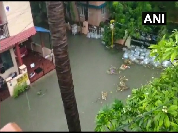 Visuals of waterlogged areas in Chennai. (Photo/ANI)