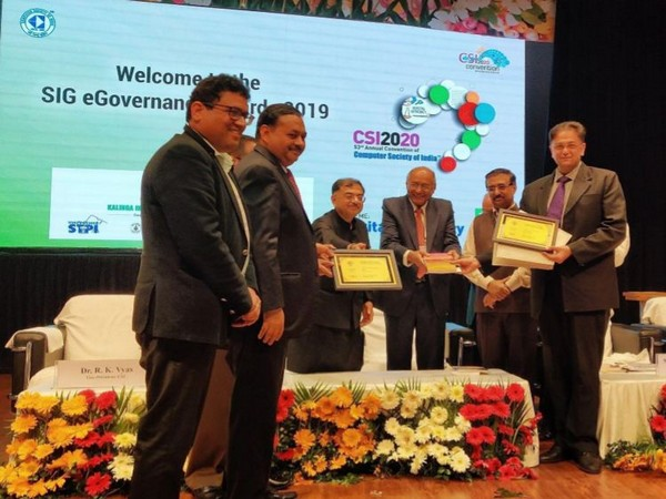 Dr Kushal Pathak, Director, ICT and CISO, ECI and Chief Electoral Officer of Odisha, Sushil Kumar Lohani, received the award on behalf of the Election Commission.