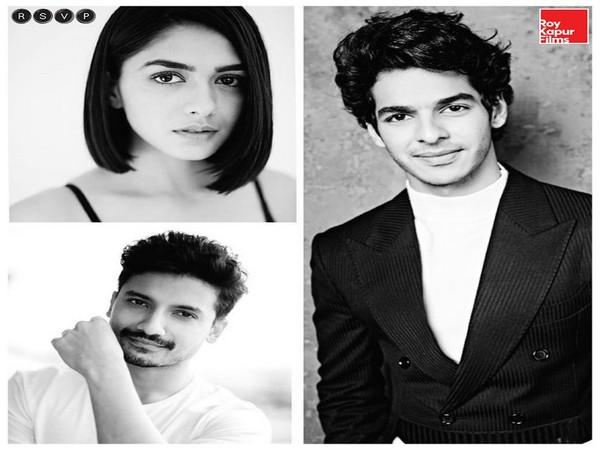 Actors Ishaan Khatter, Mrunal Thakur, and Priyanshu Painyuli (Image Source: Twitter)