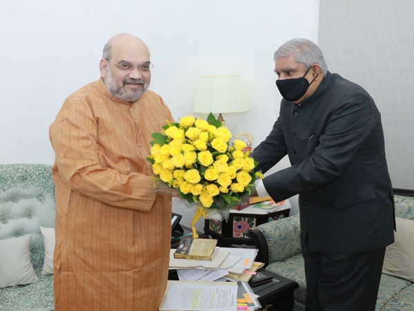 WB Governor Jagdeep Dhankhar met Union Home Minister Amit Shah earlier on Thursday. [Photo/HMO India Twitter]