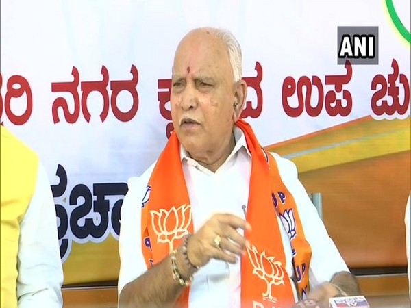 Karnataka Chief Minister BS Yediyurappa speaking to media on Saturday in Bengaluru. Photo/ANI