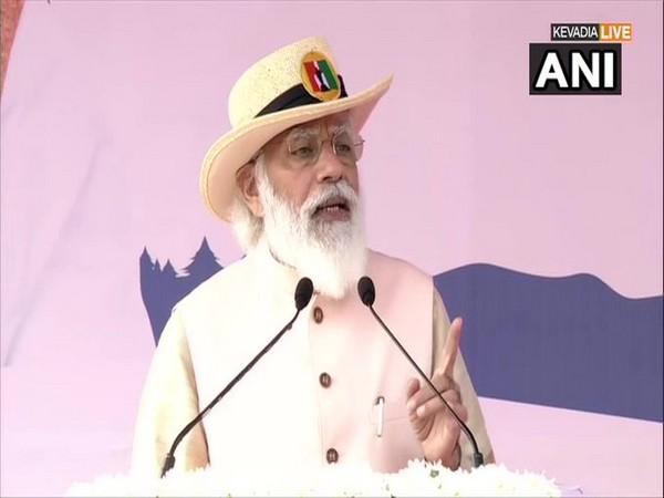 Prime Minister Narendra Modi in Kevadia (Photo/ANI)