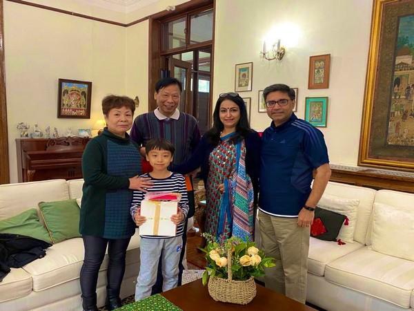 Ambassador of India Vikram Misri bids farewell to longest-serving staff member Yue Changjing