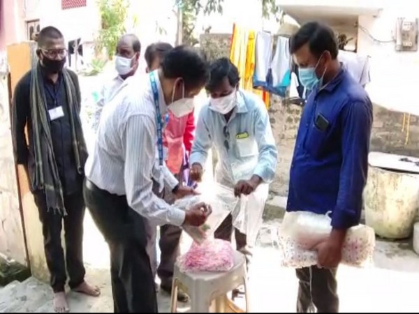 NIN Hyderabad team on Tuesday collected sample from Eluru town to find out the mystery illness. (Photo/ANI)