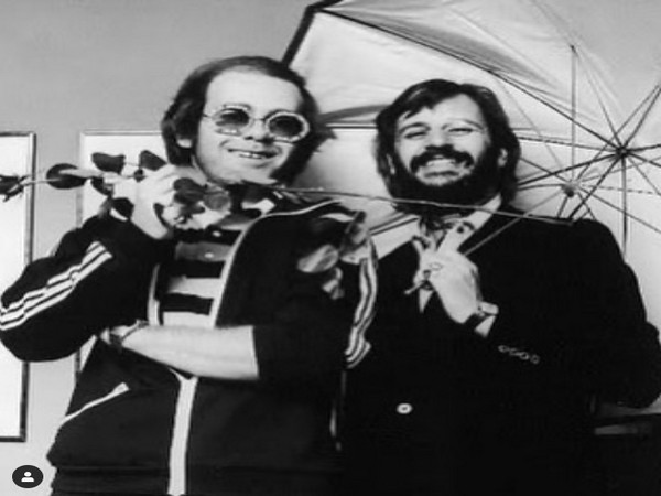 Singer Elton John wishes Ringo Starr on his 80th birthday with this throwback picture (Image source: Instagram)