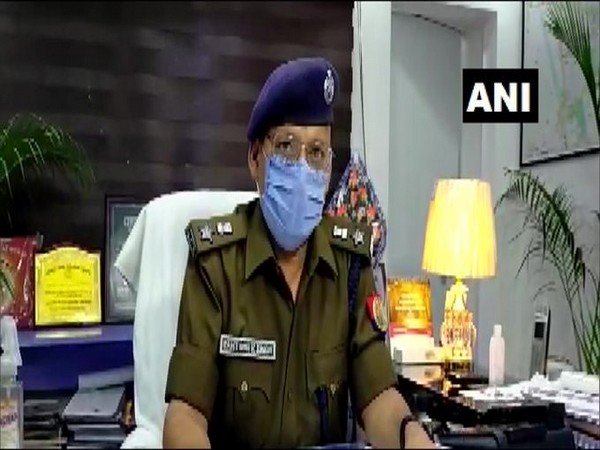 SSP Santosh Kumar Singh speaking to reporters in Bulandshahr on Monday. Photo/ANI