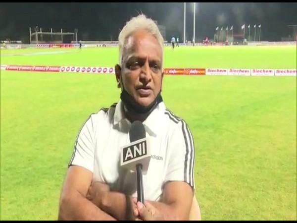 Puducherry Sports Minister Malladi Krishna Rao speaking to ANI. Photo/ANI