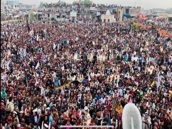 "The PTM held a ""massive gathering"" in Miranshah, North Waziristan, on Sunday,"