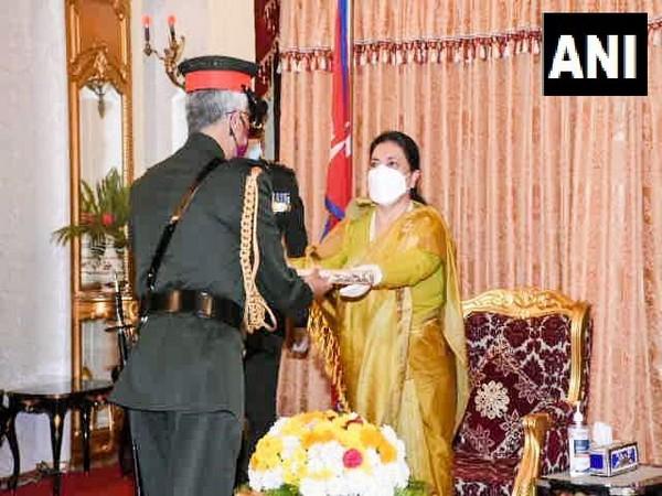Army Chief General Manoj Mukund Naravane conferred with the honorary rank of 'General of the Nepal Army' by Nepal President Bidhya Devi Bhandari