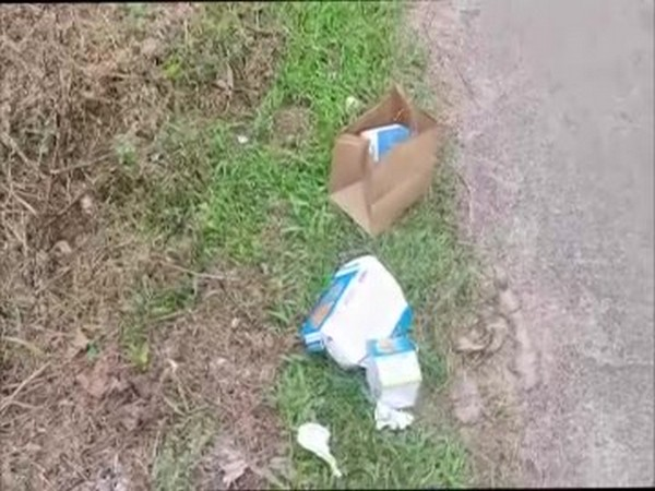 Waste thrown by two persons in Kodagu (Photo/ANI)