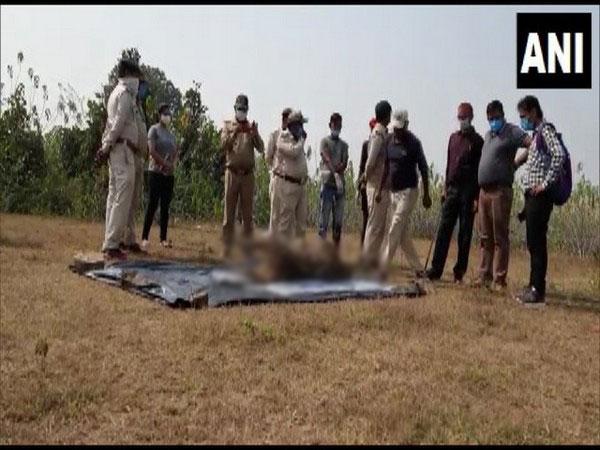 Carcass of a leopard was found in Birsinghpur forest area, Madhya Pradesh (Photo/ANI)