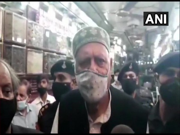 National Conference leader Farooq Abdullah speaks to reporters in Kathua on Monday. (Photo/ANI)