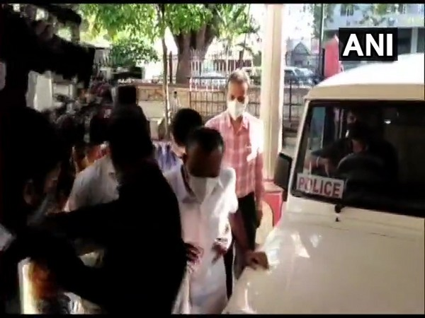 Congress leader and former Bengaluru Mayor Sampath Raj at the Central Crime Branch (CCB) office in Bengaluru. (Photo/ANI)