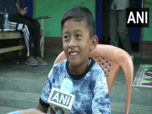 Class 4 student Kunal Shrestha