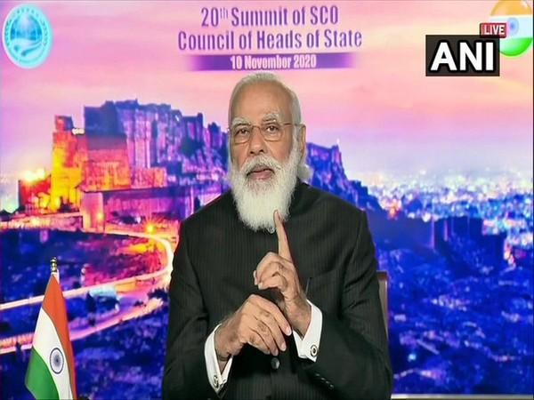 Prime Minister Narendra Modi at SCO meet on Tuesday