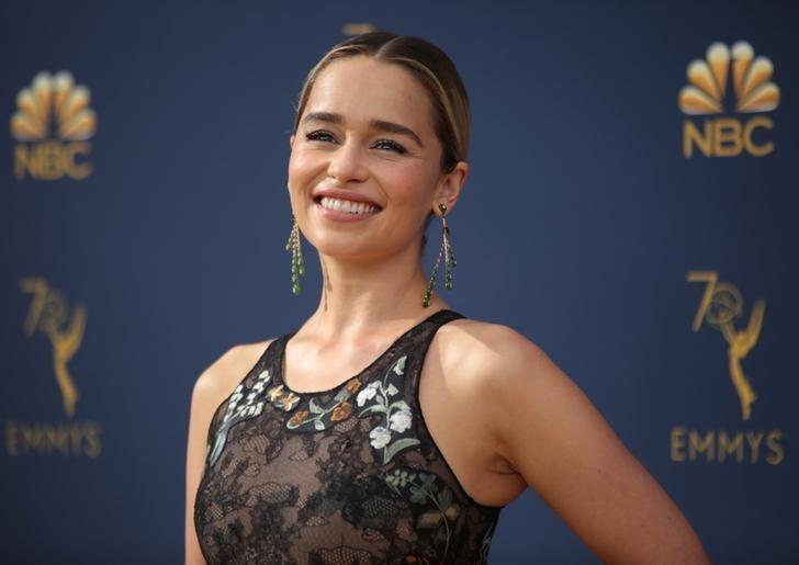 Emilia Clarke at 70th Primetime Emmy Awards