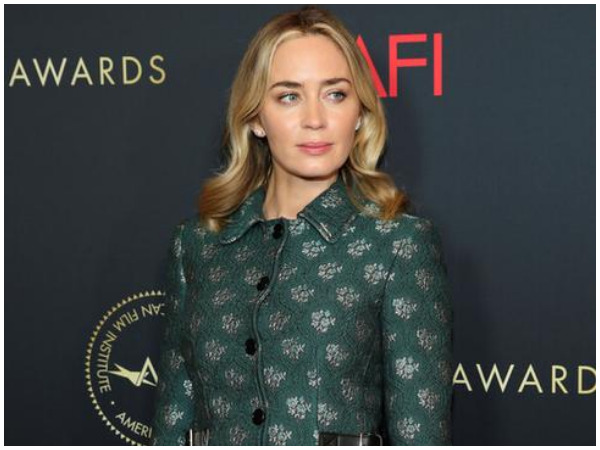 Emily Blunt posing at the annual AFI Awards luncheon in Los Angeles