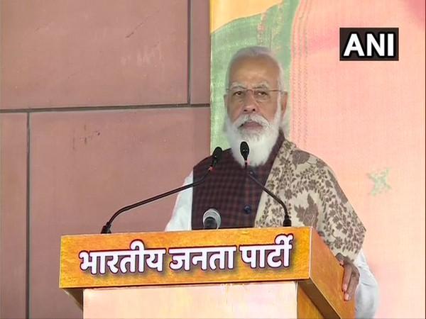 Prime Minister Narendra Modi at the BJP function in New Delhi on Wednesday. (Photo/ANI)